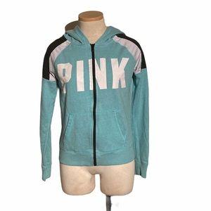 Victoria's Secret PINK Full Zip Blue Hoodie